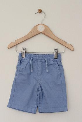 Primark blue cotton shorts (age 6-9 months)
