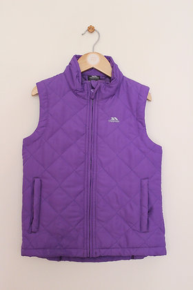 Trespass purple padded gilet (age 7-8)