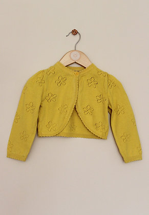 Mothercare bolero cardigan with flower design (age 18-24 months)