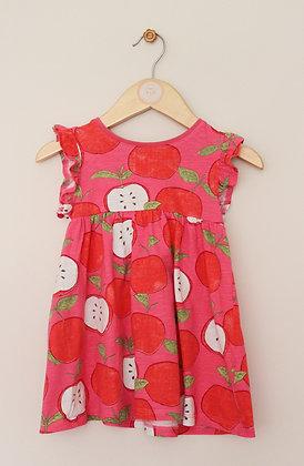 Next pink apple print dress (age 9-12 months)