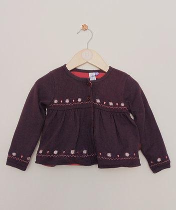 Jasper Conran purple lined jersey cardigan (age 12-18 months)