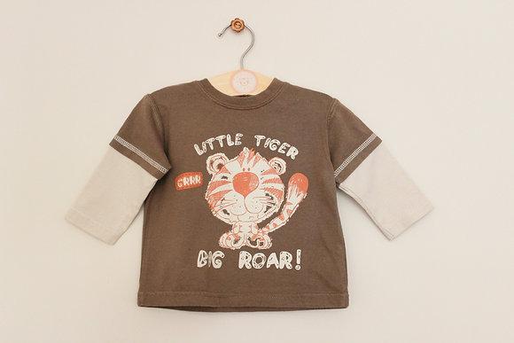 Cherokee 'Little Tiger Big Roar' long sleeved top (age 3-6 months)
