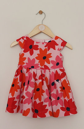Jasper Conran bright flower print dress (age 9-12 months)
