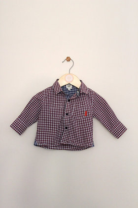 Baker Baby checked long sleeved shirt (age 0-3 months)