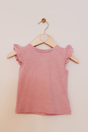 Mothercare dusky pink t-shirt (age 6-9 months)