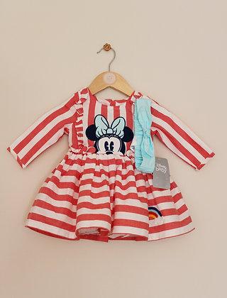 BNWT Disney Baby Minnie Mouse dress set (age 6-9 months)