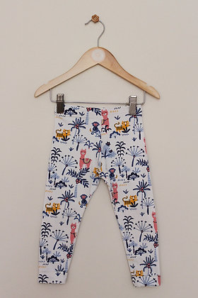 M&S animal print leggings with turn ups (age 18-24 months)