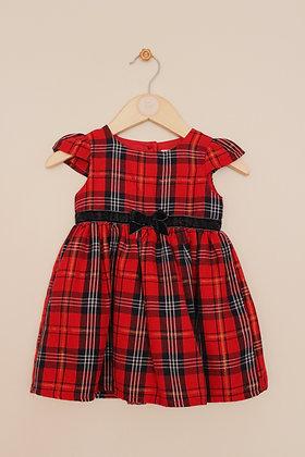 Primark Premium tartan pattern lined dress (age 6-9 months)