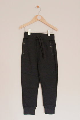 Matalan black textured joggers with zip pockets (age 6)