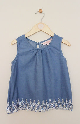 Board Angels lightweight vest top with embroidered hem (age 7-8)