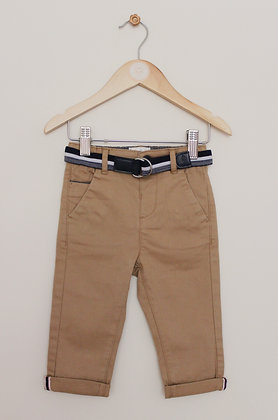 Junior J tan chinos with belt (age 9-12 months)