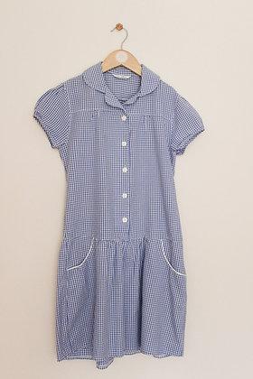 M&S blue gingham school dress (age 12)