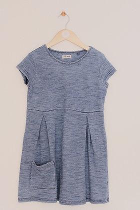 Next short sleeved blue striped jersey dress (age 8)