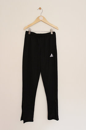 Adidas black track bottoms with zip ankles (age 9-10)