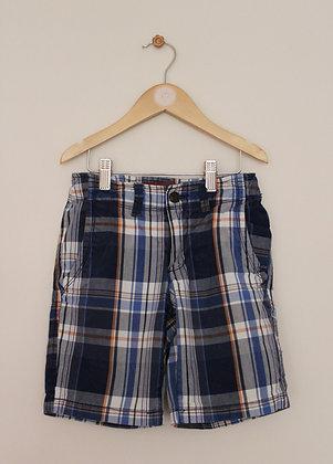 Arizona Jean Co blue and orange checked shorts (age 7)