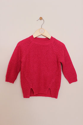 M&Co fuschia pink knitted jumper (age 12-18 months)