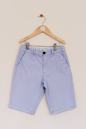 River Island pale blue chino shorts (age 9-10 years)