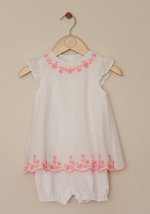 George white playsuit with embroidered tunic top layer (age 9-12 months)