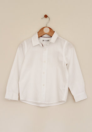 M&S Autograph white shirt with woven stripes (age 3-4)