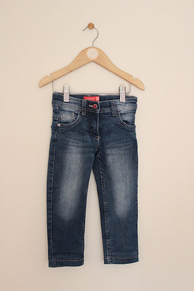 Lily & Dan worn look jeans with pink lining (age 1-2)