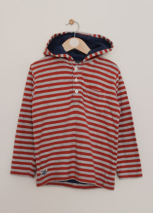 Next hooded stripey jersey sweater (age 5-6)