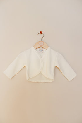 Kinder Collection cream bolero cardigan (age 6-12 months)