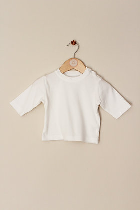 M&S long sleeved white t-shirt (age 0-3 months)
