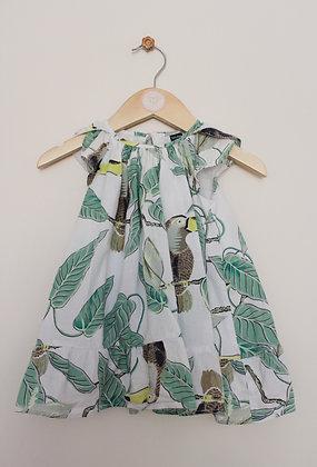 Gap tropical print lined summer dress (age 12-18 months)
