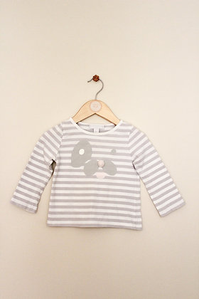 The Little White Company striped top (age 12-18 months)