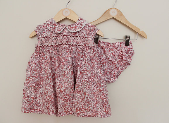 Nutmeg ditsy floral prom dress and cover up pants (age 12-18 months)