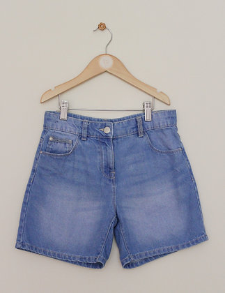 Next mid blue denim shorts (age 11)