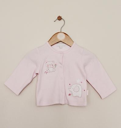 Zip Zap pale pink jersey applique cardigan (age 0-6 months)