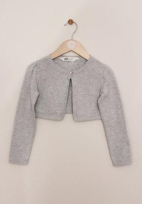 H&M grey sparkly bolero cardigan (age 4-6)