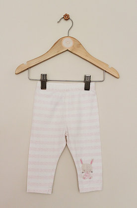 Mothercare pink and white bunny leggings (age 3-6 months)