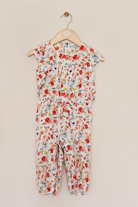 Mayoral cap sleeve floral cotton jumpsuit (age 12 months)