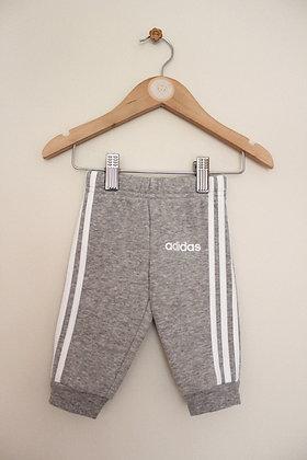 Adidas 3 stripe grey joggers (age 0-3 months)