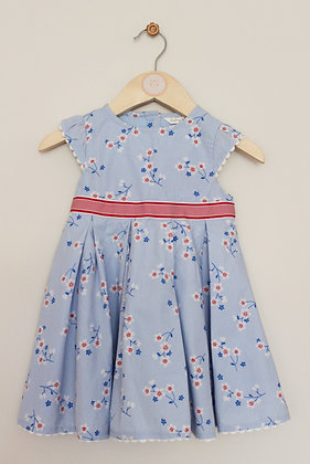 M&Co 'Dashing & Dainty' blue lined prom dress (age 9-12 months)