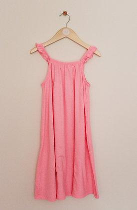F&F fluro pink jersey strappy sundress (age 9-10)