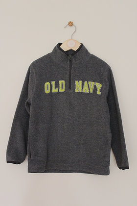 Old Navy grey pull on fleece with applique logo (age 5 / XS)