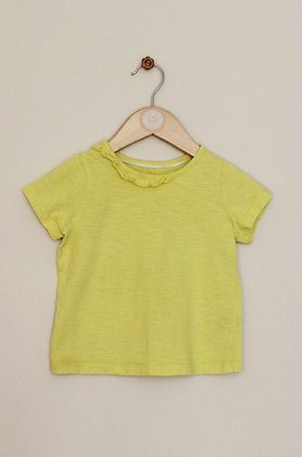 M&S yellow frilled t-shirt (age 18-24 months)