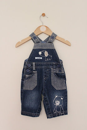 Next embroidered dungarees (age 0-3 months)