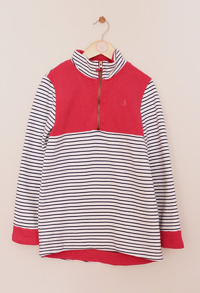 Joules long sleeved navy, white and pink sweatshirt (age 9-10)