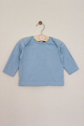 Bluezoo pale blue long sleeved top (age 0-3 months)