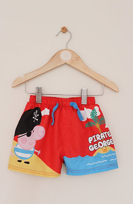 Peppa Pig 'Pirate George' swimming shorts (age 18-24 months)