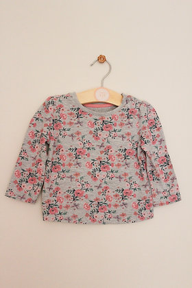Primark long sleeved floral t-shirt (age 6-9 months)