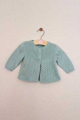 M&S aqua swing style cardigan (age 0-3 months)