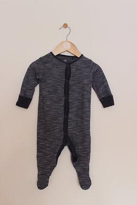 Next navy blue fine stripe sleepsuit (age 3-6 months)