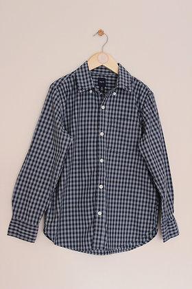Gap blue checked shirt (age 8)