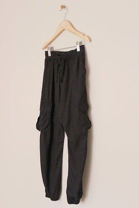 Next black lightweight jogger style cargo trousers (age 8)