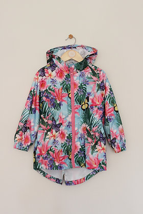 e-vie angel bright floral hooded raincoat (age 4)